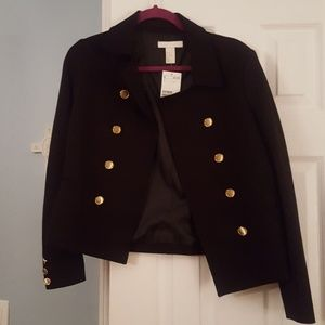 H&M jacket w/ faux pockets and buttons